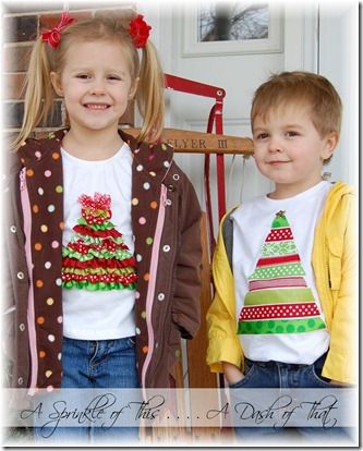 Christmas Tree Shirts {A Sprinkle of This . . . . A Dash of That}